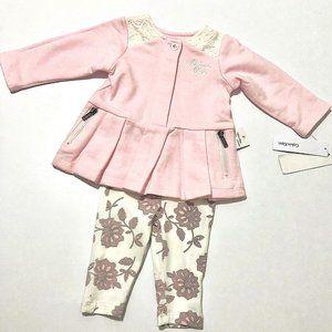 Brand new Calvin Klein Baby Girls 2 Piece Set